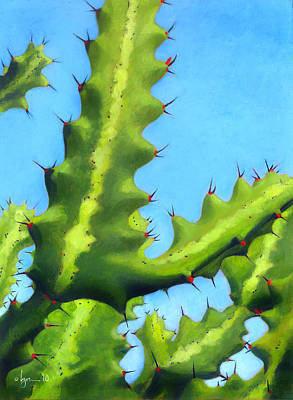 Prickly Friends Print by Angela Treat Lyon