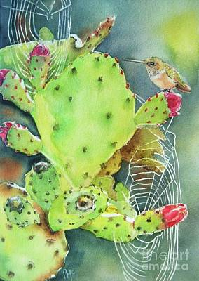 Lime Painting - Prickly Pair by Patricia Pushaw