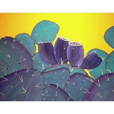 Desert Photograph - Prickly Pear With by Karyn Robinson