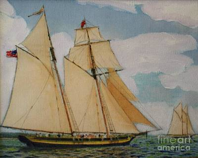 War Of 1812 Mixed Media - Pride Of Baltimore by Bill Hubbard