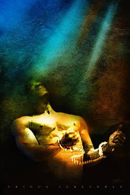 Blue Healer Mixed Media - Pride's Surrender by Shevon Johnson