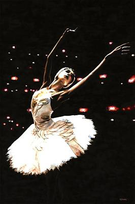 Swan Lake Ballet Painting - Prima Ballerina by Richard Young