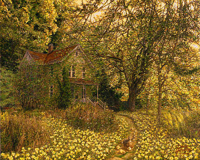 Rays Painting - Primrose Path by Doug Kreuger