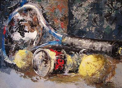 Pallet Knife Painting - Prince And Penn by John Henne