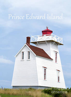 Shirt Digital Art - Prince Edward Island Lighthouse Poster by Edward Fielding