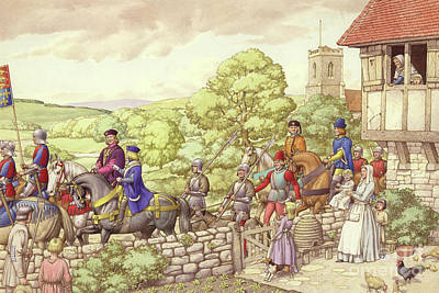 Tower Of London Painting - Prince Edward Riding From Ludlow To London by Pat Nicolle