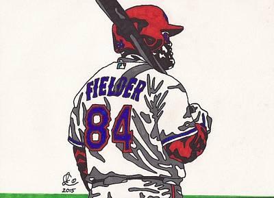 Baseball Art Drawing - Prince Fielder 1 by Jeremiah Colley
