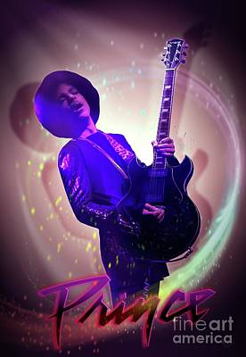 Prince - Purple Rain Print by LDS Dya
