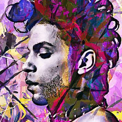 Rhythm And Blues Digital Art - Prince by Sampad Art