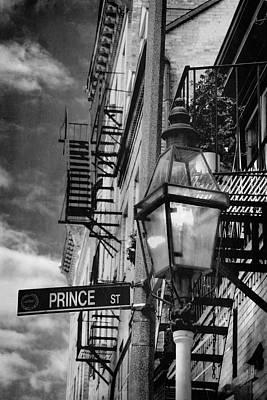 Prince Street Vertical - Boston - North End Print by Joann Vitali