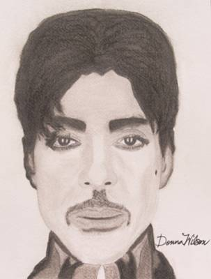 Raspberry Drawing - Prince The Singer by Donna Wilson