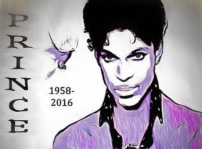 Dove Mixed Media - Prince Tribute by Dan Sproul