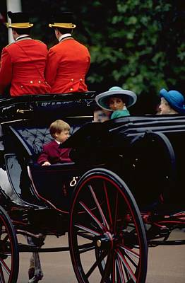 Candid Photograph - Prince William And Princess Diana On The Mall by Travel Pics