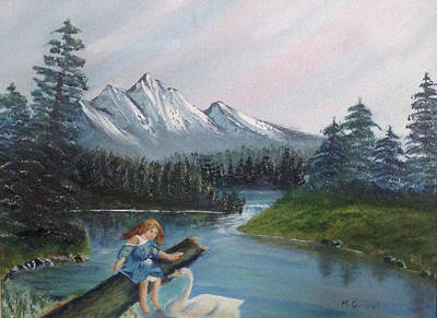 Contemplative Painting - Princess And The Dove by Marcel Quesnel