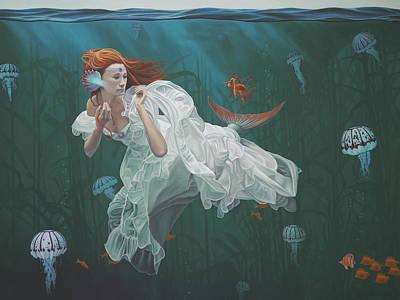 Princess And The Sea Dragon Original by Paul Bond