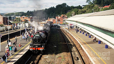Princess Elizabeth At Exeter St Davids  Print by Rob Hawkins