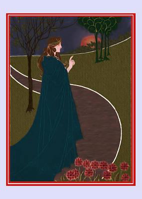 Princess In The Park Print by John Haldane