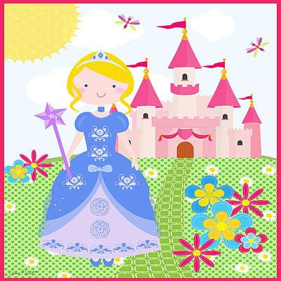 Ball Gown Digital Art - Princess-jp3211 by Jean Plout
