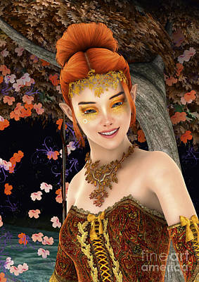 Digital Art - Princess Of Autumn by Design Windmill