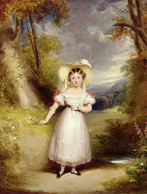 Bonnet Painting - Princess Victoria Aged Nine by Stephen Catterson the Elder Smith
