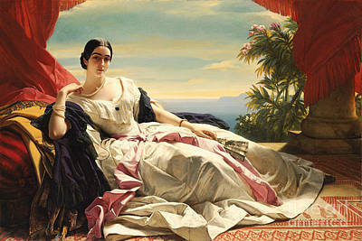 Princess Painting - Princess Zu Sayn-wittgenstein-sayn  Winterhalter by Celestial Images