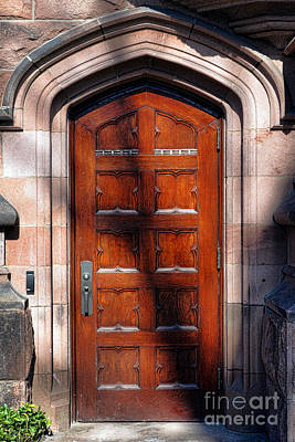 Dormitories Photograph - Princeton University Wood Door  by Olivier Le Queinec