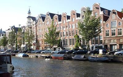 Marilyn Photograph - Prinsengracht Canal In Amsterdam by Marilyn Dunlap