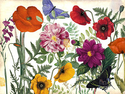 Printemps Garden Print by Mindy Sommers