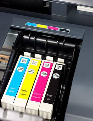 Printer Ink Cartridges Print by Boyan Dimitrov