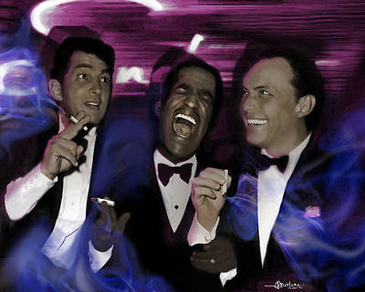 Frank Sinatra Mixed Media - Prismatic Rat Pack by Christine Mayfield