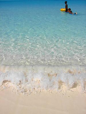 Pristine Beach At Half Moon Cay Print by Margaret Bobb