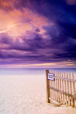 Private Beach Cape Cod Print by Matt Suess