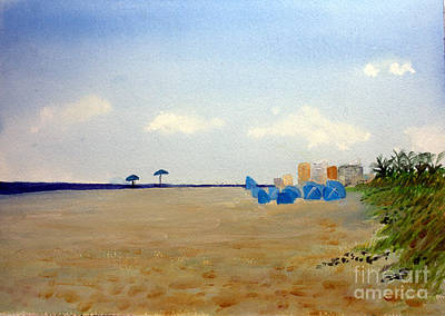 Beach Painting - Private Beach by Donna Walsh