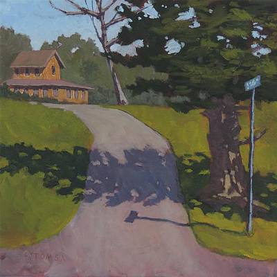Maine Roads Painting - Private Road by Bill Tomsa