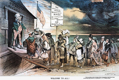 All Faa Photograph - Pro-immigration Cartoon by Granger