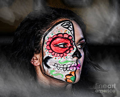 Portrait Photograph - Pro Wrestler Thunder Rosa From Out Of The Mist  by Jim Fitzpatrick
