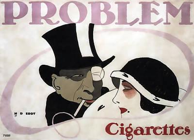 Cigarette Ads Photograph - Problem Cigarettes - Berlin 1912 by Daniel Hagerman