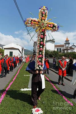 Procession In Furnas - Azores Print by Gaspar Avila