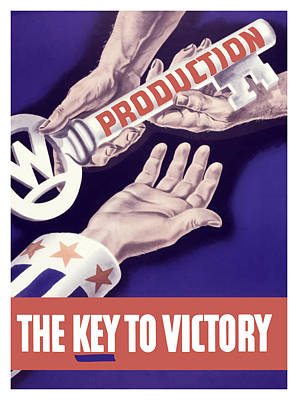 Production - The Key To Victory Print by War Is Hell Store