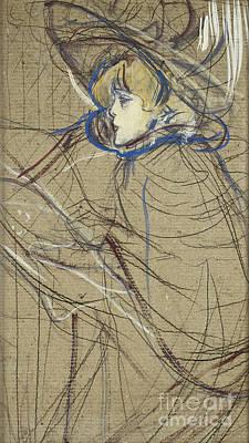 Gold Painting - Profile Of Woman Jane by Henri de Toulouse