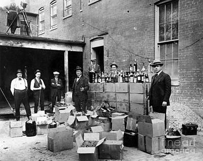 Washington Photograph - Prohibition, 1922 by Granger