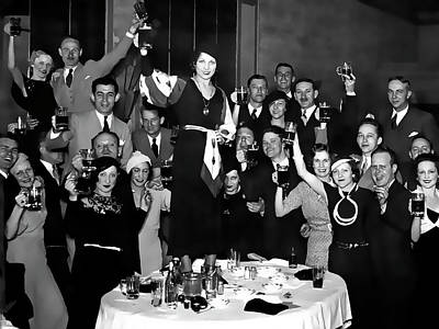 Depression Mixed Media - Prohibition Ends Party 1933 by Daniel Hagerman