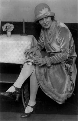 Stockings Photograph - Prohibition, Miss Rhea Seated by Everett