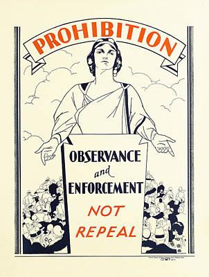 Prohibition Temperance Poster C. 1925 Print by Daniel Hagerman