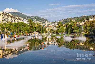 Children Playing Photograph - Promenade Du Paillon In Nice by Elena Elisseeva