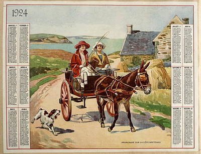 Women On Horses Painting - Promenade On The Breton Coast by MotionAge Designs