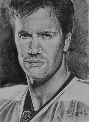 Philadelphia Flyers Drawing - Pronger by Paul Autodore