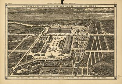 Proposed Site For World's Fair In 1883 Print by Celestial Images