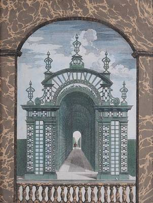 Prospect Of The Palace Of Chantilly Print by MotionAge Designs
