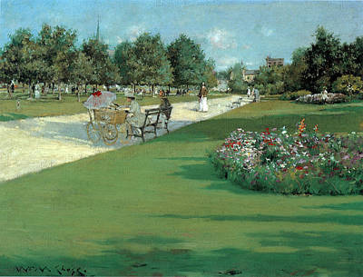 Prospect Park Brooklyn New York Print by William Merritt Chase
